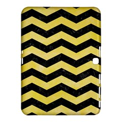 Chevron3 Black Marble & Yellow Watercolor Samsung Galaxy Tab 4 (10 1 ) Hardshell Case  by trendistuff