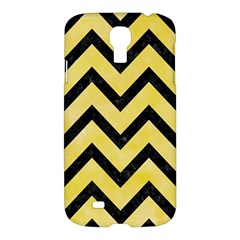 Chevron9 Black Marble & Yellow Watercolor Samsung Galaxy S4 I9500/i9505 Hardshell Case by trendistuff