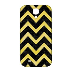 Chevron9 Black Marble & Yellow Watercolor (r) Samsung Galaxy S4 I9500/i9505  Hardshell Back Case by trendistuff