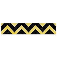 Chevron9 Black Marble & Yellow Watercolor (r) Small Flano Scarf by trendistuff