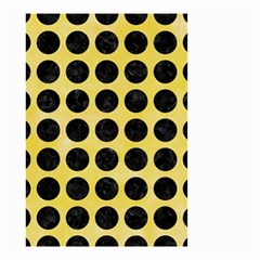 Circles1 Black Marble & Yellow Watercolor Small Garden Flag (two Sides) by trendistuff