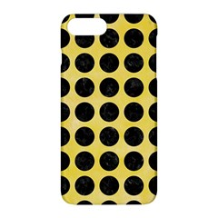 Circles1 Black Marble & Yellow Watercolor Apple Iphone 8 Plus Hardshell Case by trendistuff