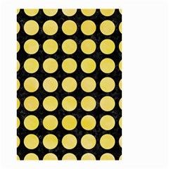 Circles1 Black Marble & Yellow Watercolor (r) Small Garden Flag (two Sides) by trendistuff