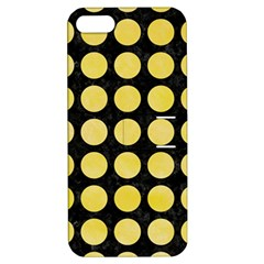 Circles1 Black Marble & Yellow Watercolor (r) Apple Iphone 5 Hardshell Case With Stand