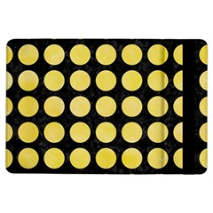 Circles1 Black Marble & Yellow Watercolor (r) Ipad Air Flip by trendistuff