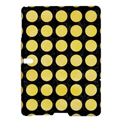 Circles1 Black Marble & Yellow Watercolor (r) Samsung Galaxy Tab S (10 5 ) Hardshell Case  by trendistuff