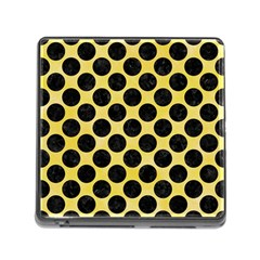 Circles2 Black Marble & Yellow Watercolor Memory Card Reader (square) by trendistuff