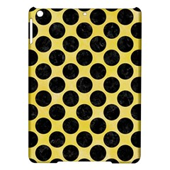 Circles2 Black Marble & Yellow Watercolor Ipad Air Hardshell Cases by trendistuff