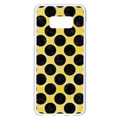 Circles2 Black Marble & Yellow Watercolor Samsung Galaxy S8 Plus White Seamless Case