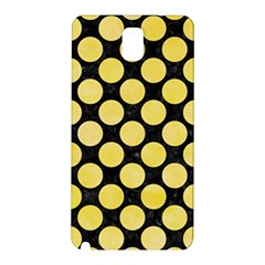Circles2 Black Marble & Yellow Watercolor (r) Samsung Galaxy Note 3 N9005 Hardshell Back Case by trendistuff
