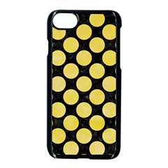 Circles2 Black Marble & Yellow Watercolor (r) Apple Iphone 8 Seamless Case (black) by trendistuff
