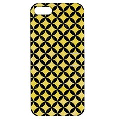 Circles3 Black Marble & Yellow Watercolor Apple Iphone 5 Hardshell Case With Stand