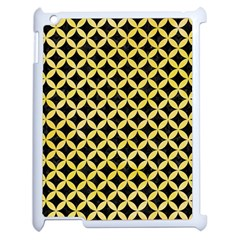 Circles3 Black Marble & Yellow Watercolor (r) Apple Ipad 2 Case (white) by trendistuff