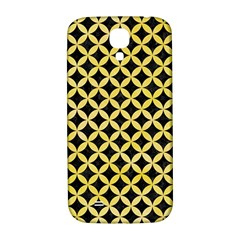Circles3 Black Marble & Yellow Watercolor (r) Samsung Galaxy S4 I9500/i9505  Hardshell Back Case by trendistuff