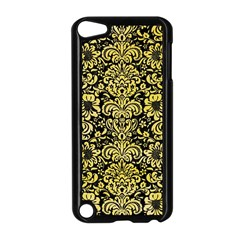 Damask2 Black Marble & Yellow Watercolor (r) Apple Ipod Touch 5 Case (black)