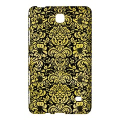 Damask2 Black Marble & Yellow Watercolor (r) Samsung Galaxy Tab 4 (7 ) Hardshell Case  by trendistuff