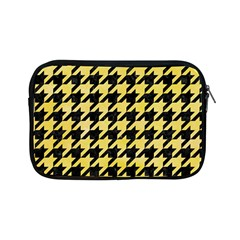 Houndstooth1 Black Marble & Yellow Watercolor Apple Ipad Mini Zipper Cases by trendistuff