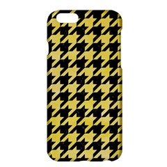 Houndstooth1 Black Marble & Yellow Watercolor Apple Iphone 6 Plus/6s Plus Hardshell Case by trendistuff
