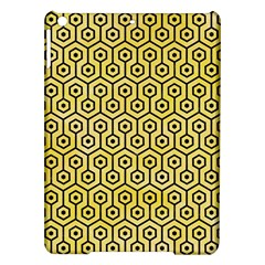 Hexagon1 Black Marble & Yellow Watercolor Ipad Air Hardshell Cases by trendistuff