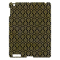 Hexagon1 Black Marble & Yellow Watercolor (r) Apple Ipad 3/4 Hardshell Case by trendistuff