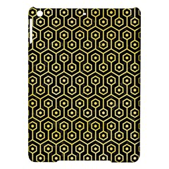 Hexagon1 Black Marble & Yellow Watercolor (r) Ipad Air Hardshell Cases by trendistuff