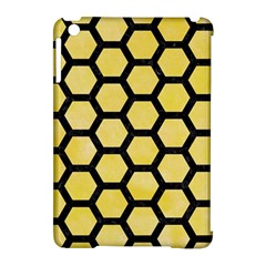 Hexagon2 Black Marble & Yellow Watercolor Apple Ipad Mini Hardshell Case (compatible With Smart Cover) by trendistuff