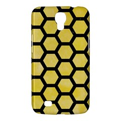 Hexagon2 Black Marble & Yellow Watercolor Samsung Galaxy Mega 6 3  I9200 Hardshell Case by trendistuff