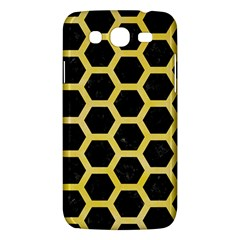 Hexagon2 Black Marble & Yellow Watercolor (r) Samsung Galaxy Mega 5 8 I9152 Hardshell Case  by trendistuff