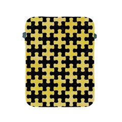 Puzzle1 Black Marble & Yellow Watercolor Apple Ipad 2/3/4 Protective Soft Cases