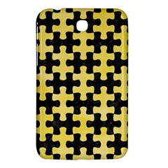 Puzzle1 Black Marble & Yellow Watercolor Samsung Galaxy Tab 3 (7 ) P3200 Hardshell Case  by trendistuff
