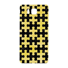 Puzzle1 Black Marble & Yellow Watercolor Samsung Galaxy Alpha Hardshell Back Case by trendistuff