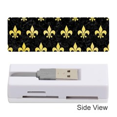 Royal1 Black Marble & Yellow Watercolor Memory Card Reader (stick)  by trendistuff