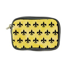 Royal1 Black Marble & Yellow Watercolor (r) Coin Purse by trendistuff