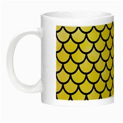 Scales1 Black Marble & Yellow Watercolor Night Luminous Mugs by trendistuff