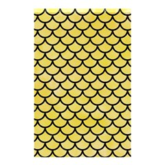 Scales1 Black Marble & Yellow Watercolor Shower Curtain 48  X 72  (small)  by trendistuff