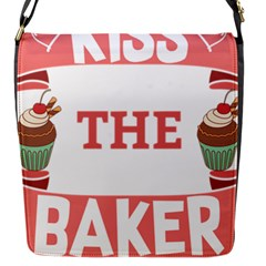 Kiss The Baker Flap Messenger Bag (s) by BakersandArtists