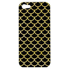 Scales1 Black Marble & Yellow Watercolor (r) Apple Iphone 5 Hardshell Case by trendistuff