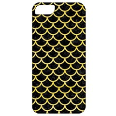 Scales1 Black Marble & Yellow Watercolor (r) Apple Iphone 5 Classic Hardshell Case by trendistuff