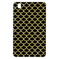 Scales1 Black Marble & Yellow Watercolor (r) Samsung Galaxy Tab Pro 8 4 Hardshell Case by trendistuff