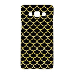 Scales1 Black Marble & Yellow Watercolor (r) Samsung Galaxy A5 Hardshell Case  by trendistuff
