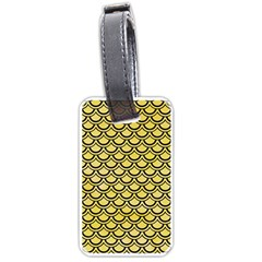 Scales2 Black Marble & Yellow Watercolor Luggage Tags (one Side)  by trendistuff