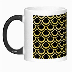 Scales2 Black Marble & Yellow Watercolor (r) Morph Mugs by trendistuff