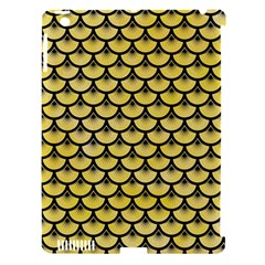 Scales3 Black Marble & Yellow Watercolor Apple Ipad 3/4 Hardshell Case (compatible With Smart Cover) by trendistuff