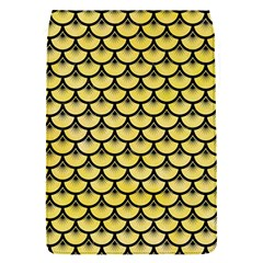Scales3 Black Marble & Yellow Watercolor Flap Covers (s)  by trendistuff