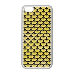 Scales3 Black Marble & Yellow Watercolor Apple Iphone 5c Seamless Case (white)