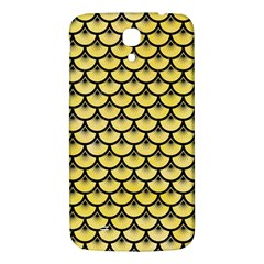 Scales3 Black Marble & Yellow Watercolor Samsung Galaxy Mega I9200 Hardshell Back Case by trendistuff
