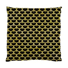 Scales3 Black Marble & Yellow Watercolor (r) Standard Cushion Case (one Side) by trendistuff