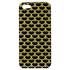 Scales3 Black Marble & Yellow Watercolor (r) Apple Iphone 5 Hardshell Case by trendistuff