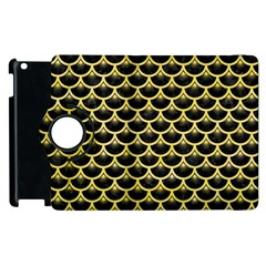 Scales3 Black Marble & Yellow Watercolor (r) Apple Ipad 3/4 Flip 360 Case by trendistuff