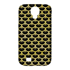 Scales3 Black Marble & Yellow Watercolor (r) Samsung Galaxy S4 Classic Hardshell Case (pc+silicone) by trendistuff